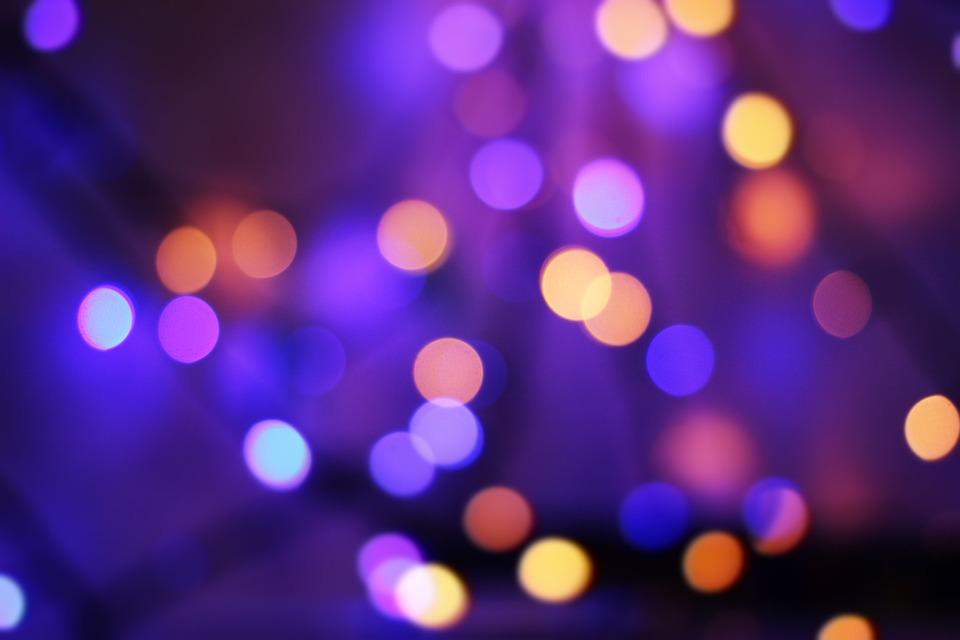 Light, Bokeh, Violet