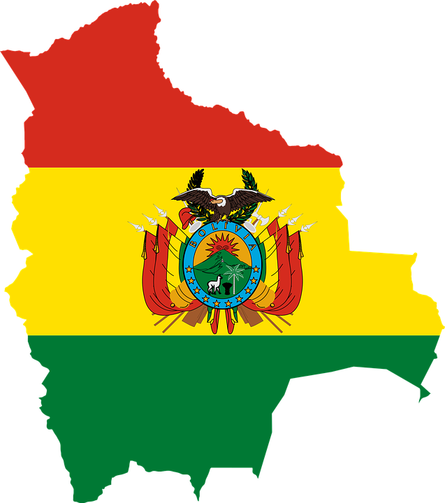 Bolivia, Borders, Country, Flag, Latin, Map, Nation