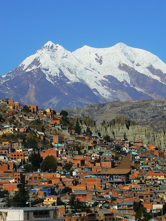 La Paz, Andes, South America, Bolivia, City, Mountains