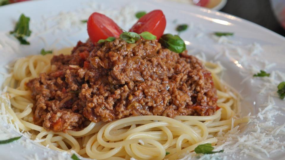 Spaghetti, Bolognese, Parmesan, Eat, Food, Delicious