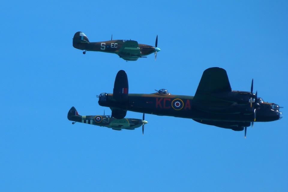 Aircraft, Ww2, Lancaster, Bomber, Spitfire, Hurricane