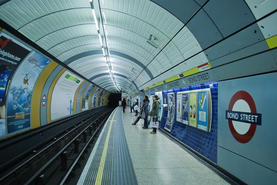 London, Metro, Tube, Bond Street, City, England