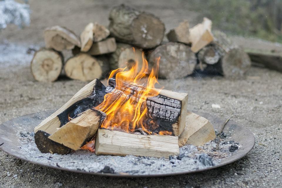 Fire, Campfire, Burn, Hot, Heat, Bonfire, Wood, Block