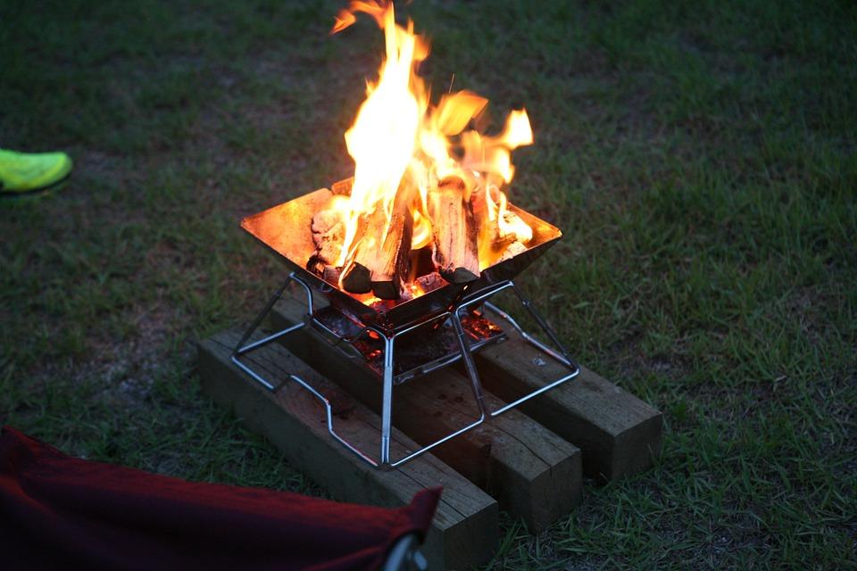 Fire, Bonfire, Camping