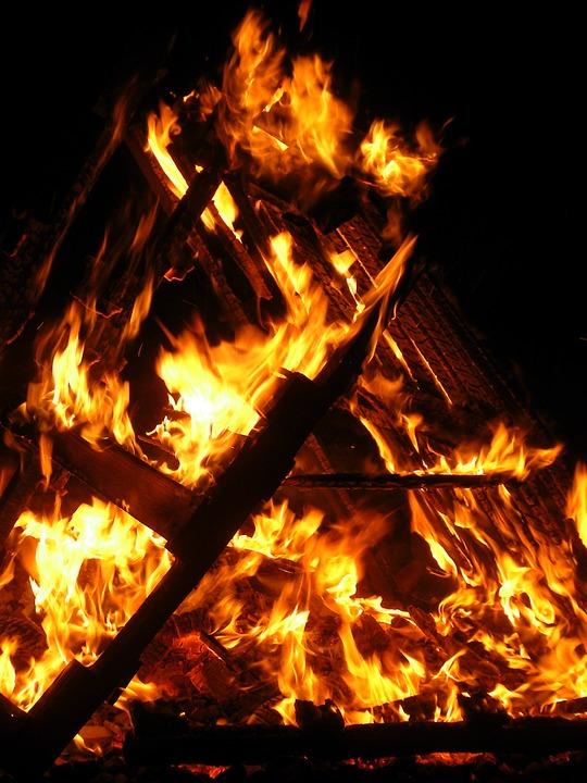 Bonfire, Fire, Flame, Burn, Hot, Heat, Campfire, Blaze
