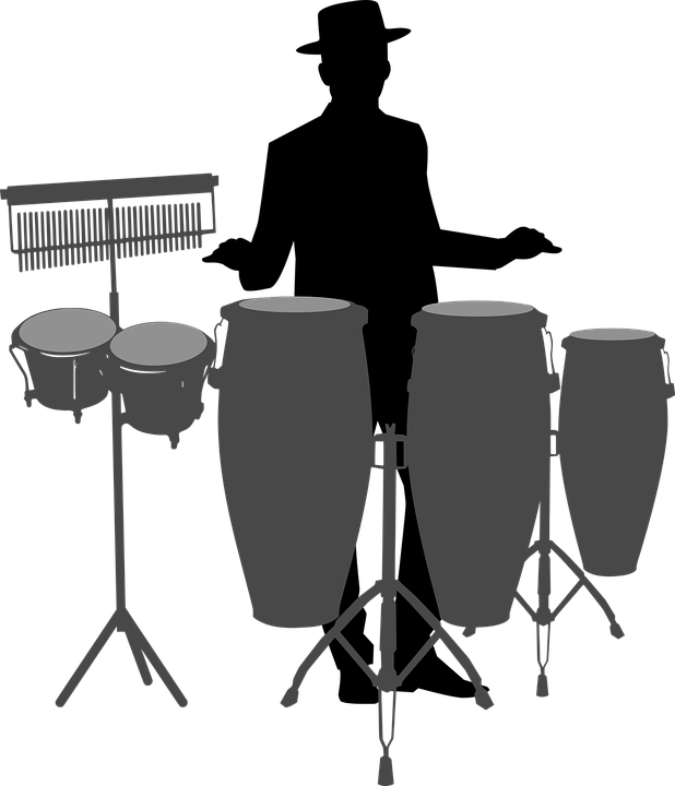 Conga, Drum, Bongo, Player, Music, Chimes, Playing
