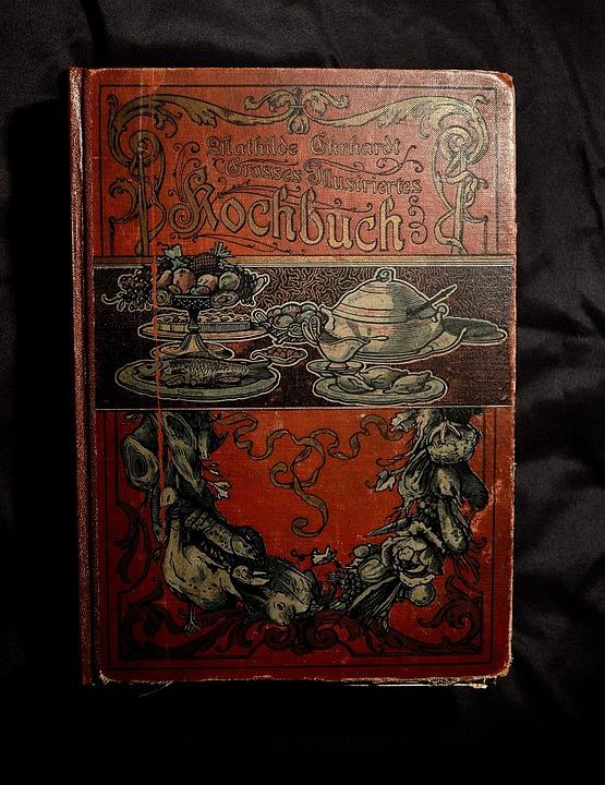 Antiquariat, Antique Cookbook, Old Cookbook, Book