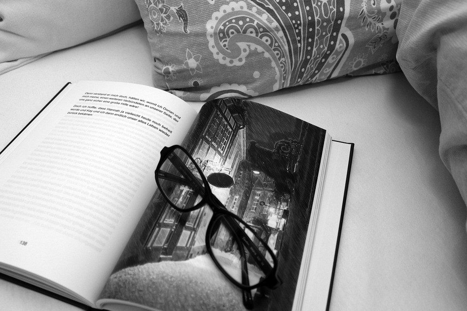 Bedroom, Bed, Book, Glasses, Read, Relax, Books