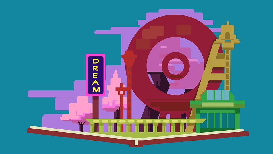 Amusement Park, Cherry Blossom, Book