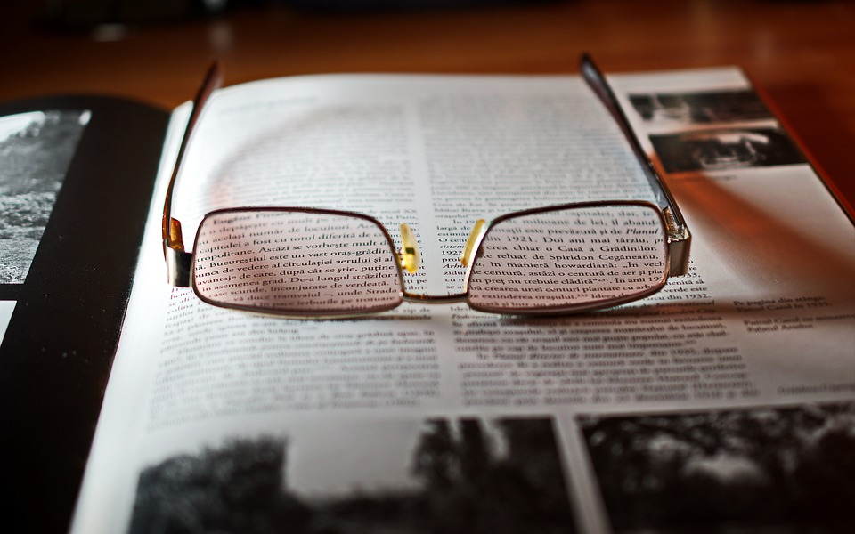 Glasses, Place, Book, Text, Images, Encyclopedia, Table