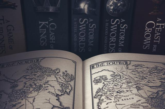 Game Of Thrones, Book, Books, A Map, George R, R