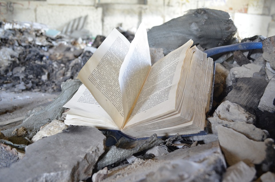 Book, Abandoned Book, Garbage