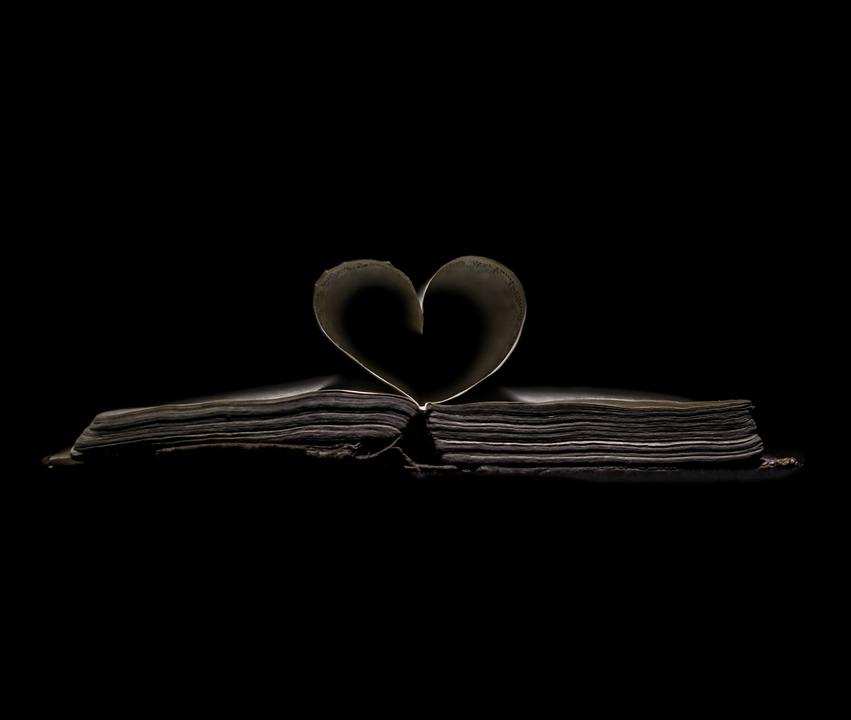 Heart, Paper Heart, Book, Hymn Book