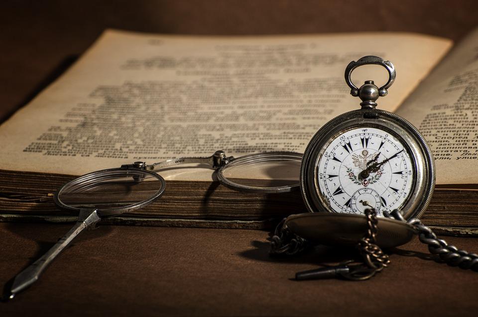 Watch, Retro, Book, Old, Library, Literature, Antique
