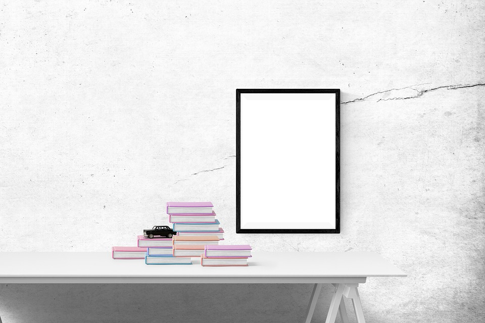 Free Photo Book Poster Mockup Poster Frame Wall Template