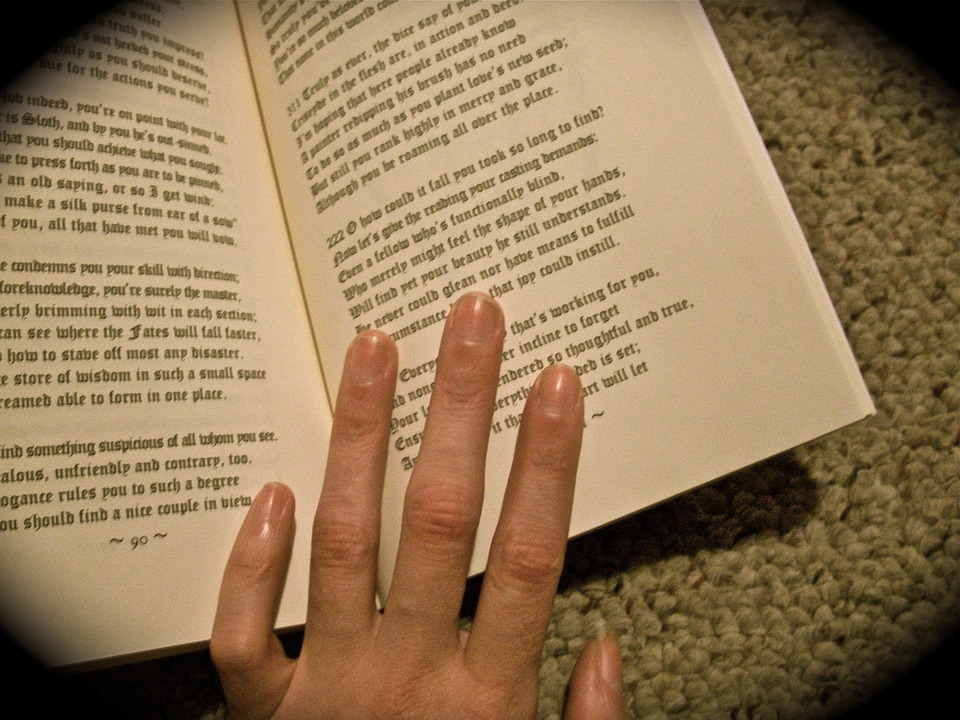 Medieval, Book, Mystic, Hand, Reading, Occult
