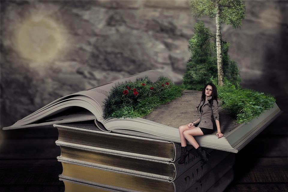 Book, Girl, Model, Pile Of Books, Reading, Books