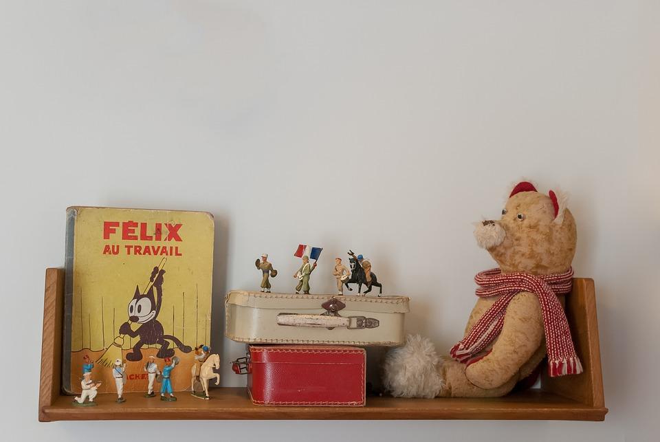 Shelf, Book, Peel, Child Books, Wood