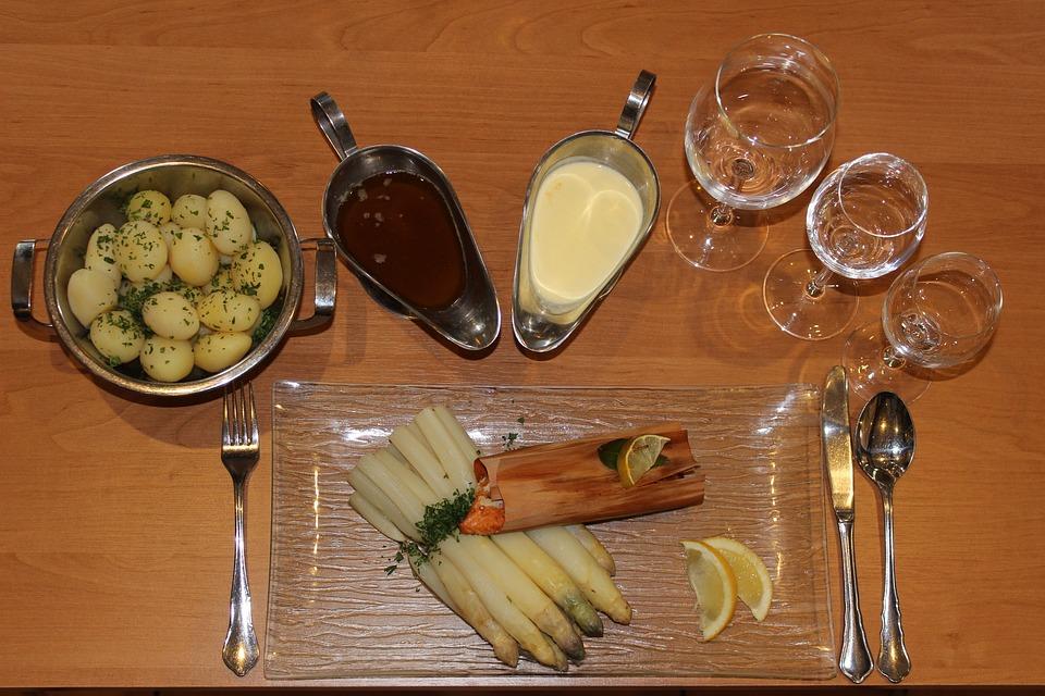 Asparagus, Asparagus Dish, Book Span Salmon, Salmon