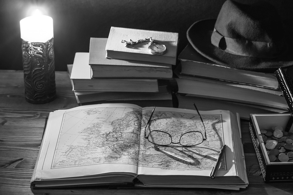 Notebook, Books, Old Books, Glasses, Candle, Book