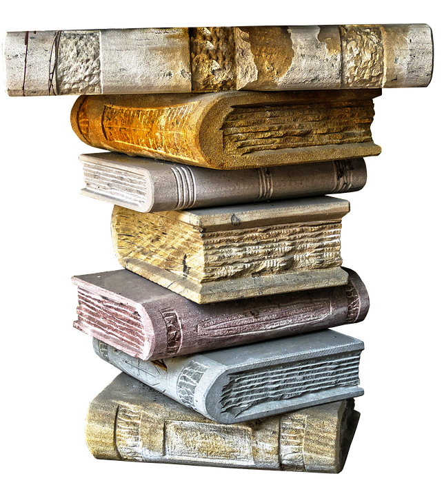 Books, Book Stack, Ceramic, Capital, Stacked, Pillar