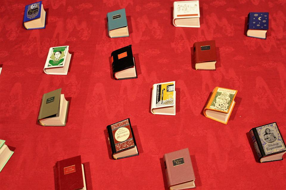 Books, Red, Decoration, Bookshop