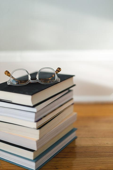 Books, Reading, Glasses, Library