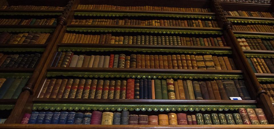 Library, Old, Books, Series, Shelves, Bookshelf