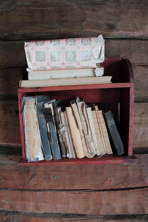 Books, Bookcase, Old