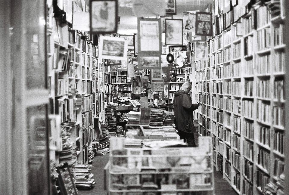 Bookstore, Books, Old Bookstore, Vintage, Shelf