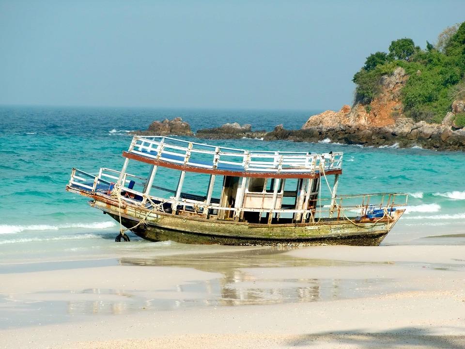 Ship, Boot, Lagoon, Booked, Holiday, Beach, Summer, Sea