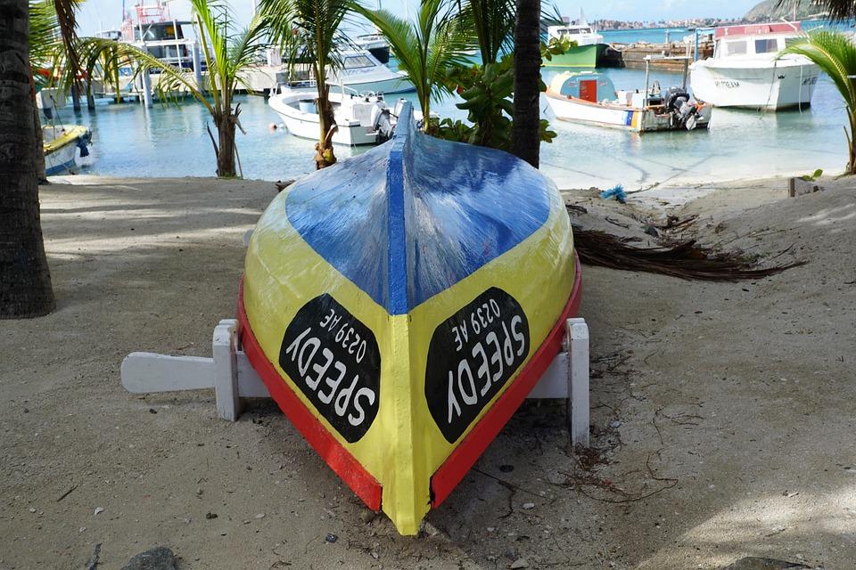 Philipsburg, St Maarten, Beach, Boot