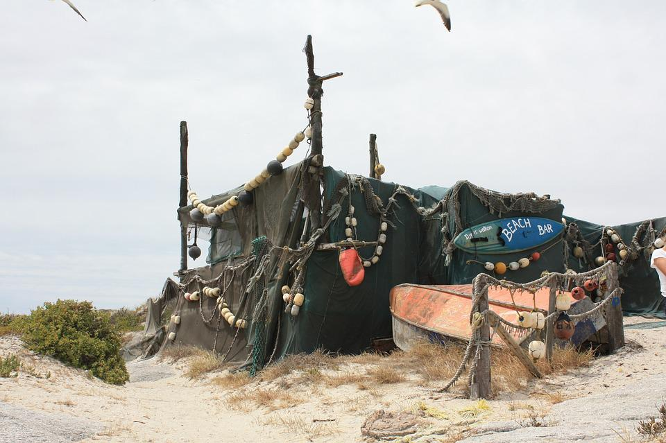 South Africa, Strandlooper, Hut, Boot