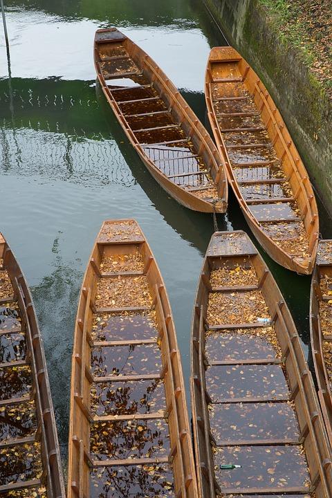 Ulm, Danube, Kahn, Poke Kahn, Boot, Autumn