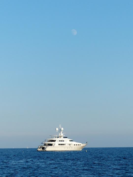 Racing Boat, Speedboat, Yacht, Moon, Water, Ocean, Boot