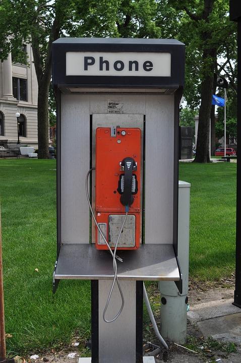 Phone, Booth, Telephone, Street, Urban, Retro, Vintage