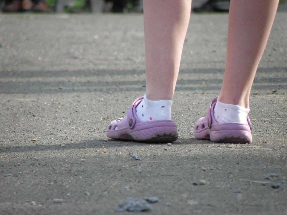 Crocs, Socks, Feet, Boots, Slippers