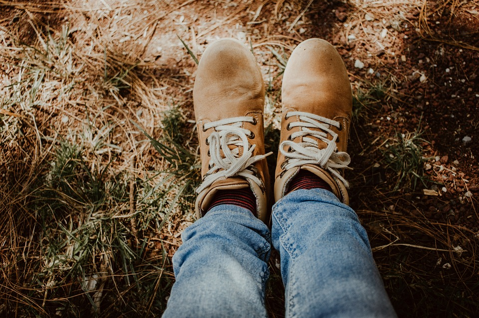 Boots, Brown, Forest, Jeans, Fashion, Autumn, Fall