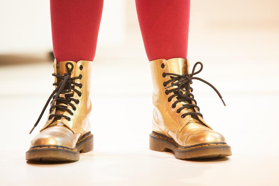 Boots, Gold, Feet, Fashion, Golden, Leather, Style