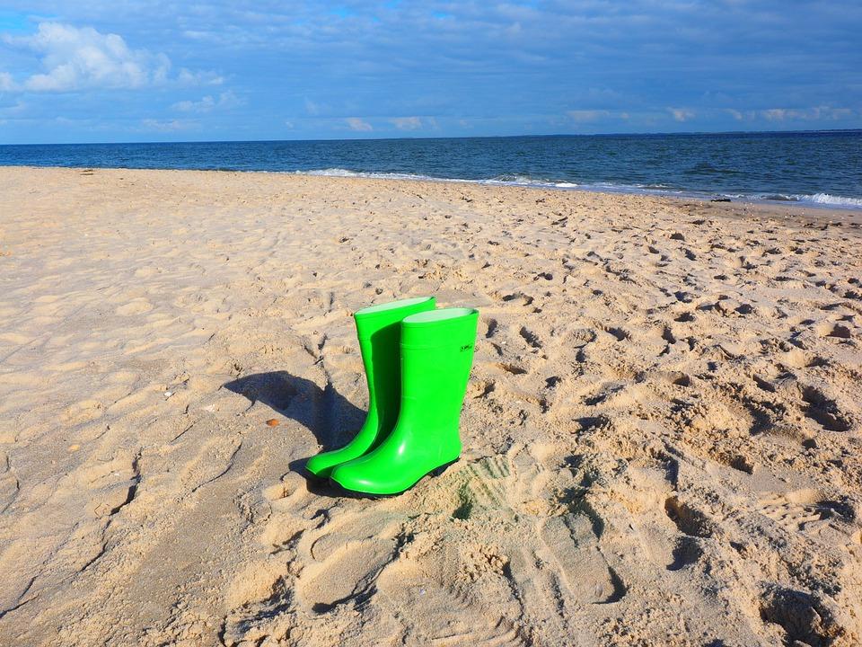 Rubber Boots, Boots, Green, Light Green, Bilious Green