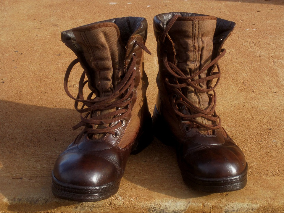 Boots, Footwear, Protection, Lace-ups, Leather, Shiny