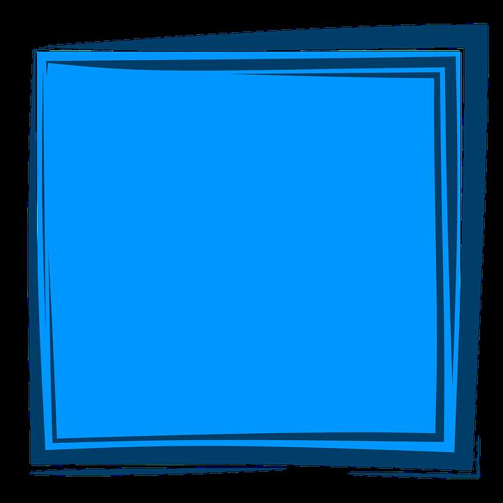 Blue Frame, Frame, Background, Album, Border, Design