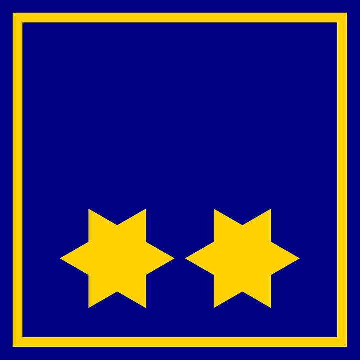 Star, Flag, Blue, Border, Yellow