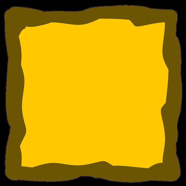 Yellow, Frame, Album, Square, Border, Border Frame