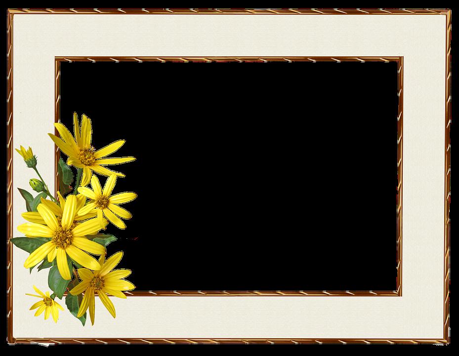 Free photo Border Yellow Flower Frame - Max Pixel