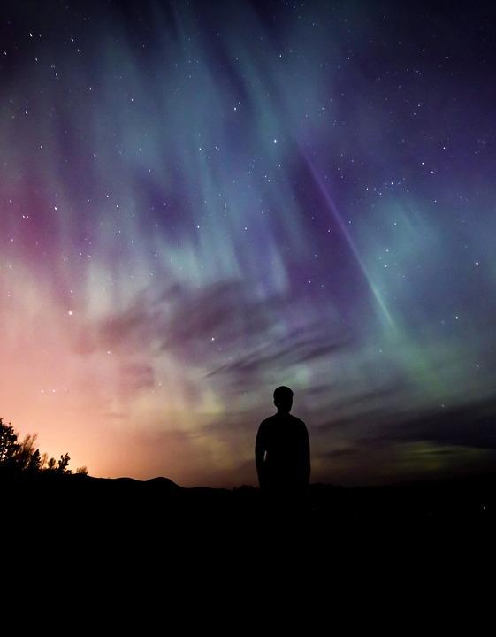 Aurora, Aurora Borealis, Borealis, Northern, Man