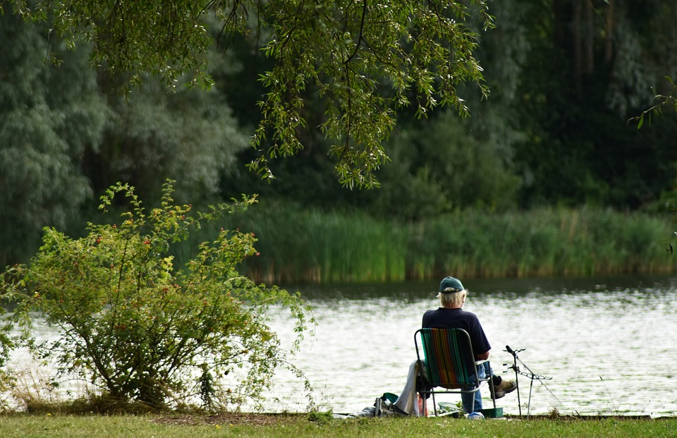 Fisherman, Fishing, Bored, Boredom, Chair, Elderly