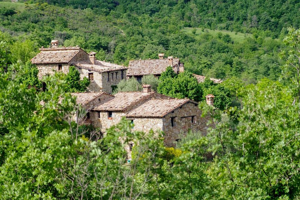 Tavernelle, Medieval Village, Perugia, Umbria, Borgo