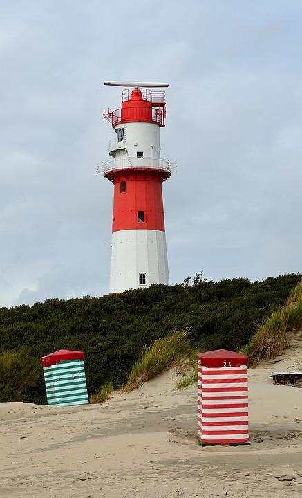 Electric Lighthouse, Beacon, Shipping, Borkum