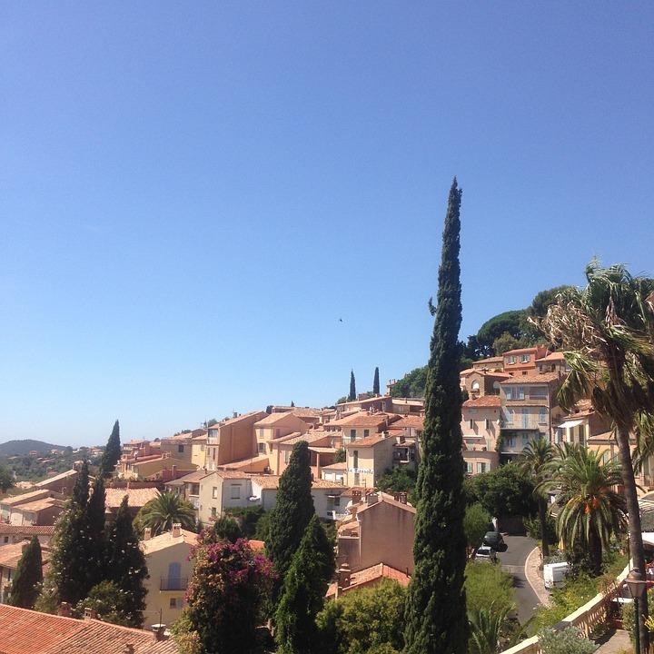 South, France, Village, Bormes Les Mimosas, Provence